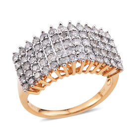 Designer Inspired - Limited Edition - Tucson Collection 14K Y Gold Diamond (Rnd) Ring 1.040 Ct (I1-I2 Graded)