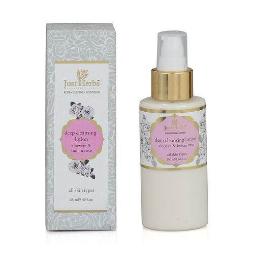 Just Herbs Aloevera and Indian rose Deep cleansing lotion (100ml)