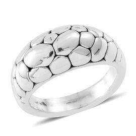 Designer Inspired Sterling Silver Pebble Ring, Silver wt. 4.58 Gms.