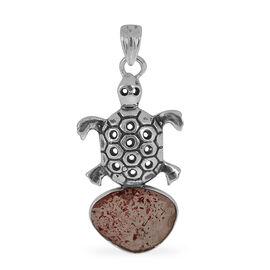 Jewels of India Titanium Quartz Tortoise Pendant in Sterling Silver 4.730 Ct.