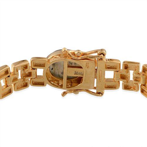 Labradorite (Ovl) Bracelet (Size 7.5) in 14K Gold Overlay Sterling Silver 27.500 Ct.