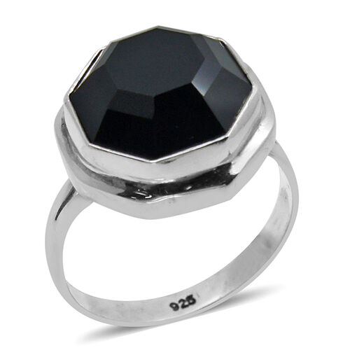 Royal Bali Collection Boi Ploi Black Spinel Ring in Sterling Silver 13.320 Ct.