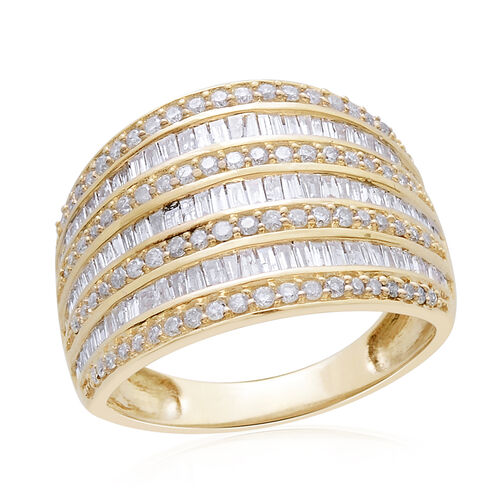 Diamond (1.00 Ct) 9K Y Gold Ring  1.000  Ct.
