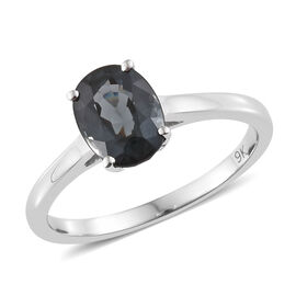 AAA Platinum Grey Spinel (1.50 Ct) 9K W Gold Ring  1.500  Ct.