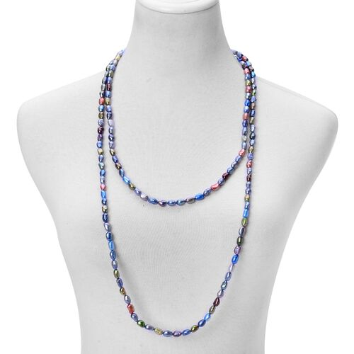 (Option 2) Fresh Water Multi Colour Pearl Necklace (Size 64)