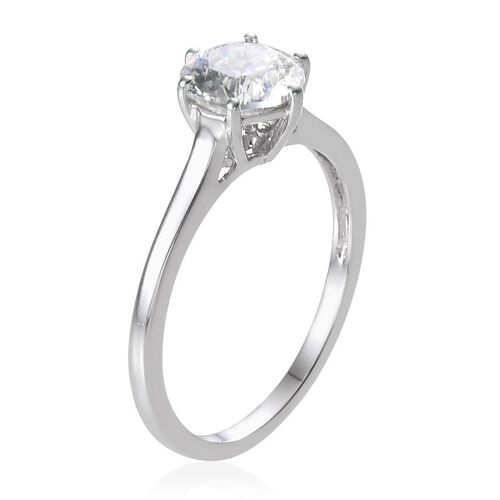 9K W Gold (Rnd) Solitaire Ring Made with SWAROVSKI ZIRCONIA 1.030 Ct.