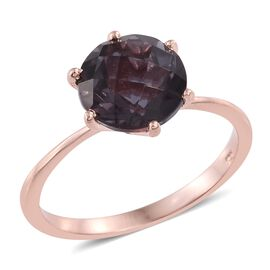 Alexandria Quartz (Rnd) Solitaire Ring in Rose Gold Overlay Sterling Silver 3.750 Ct.