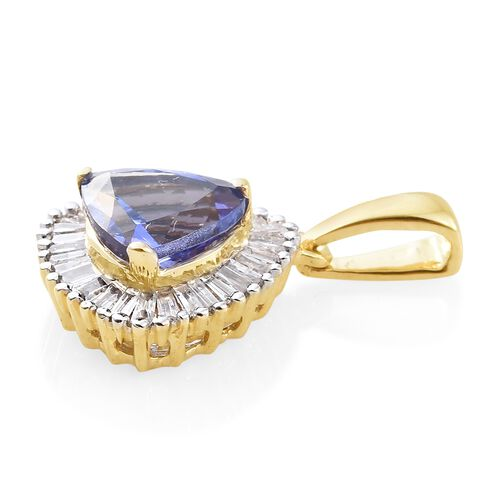 9K Yellow Gold Tanzanite (Trl 1.15 Ct), Diamond Pendant 1.350 Ct.