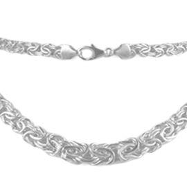 9K White Gold Graduated Byzantine Necklace (Size 20), Gold Wt. 14.61 Gms.