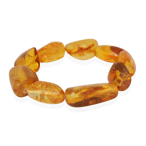 Baltic Amber Stretchable Bracelet (Size 7.5) 50.000 Ct