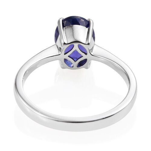 RHAPSODY 950 Platinum AAAA Tanzanite (Ovl) Solitaire Ring 3.000 Ct.