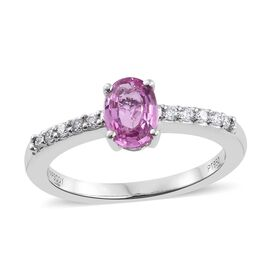 RHAPSODY 950 Platinum AAAA Pink Sapphire (Ovl), Diamond (VS/E-F) Ring 1.000 Ct.