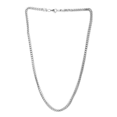 Close Out Deal Curb Necklace (Size 24) in Stainless Steel