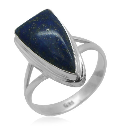 Royal Bali Collection Lapis Lazuli Ring in Sterling Silver 9.150 Ct.