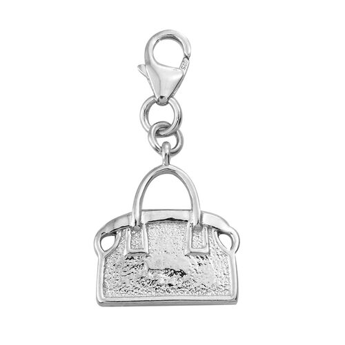 Silver Handbag Charm in Platinum Overlay