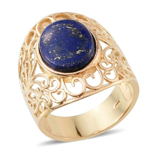 Lapis Lazuli (Ovl) Ring in 14K Gold Overlay Sterling Silver 11.500 Ct.