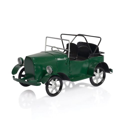Home Decor - Green Colour Handmade Old Car