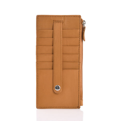 Genuine Leather RFID Blocker Tan Colour Ladies Wallet