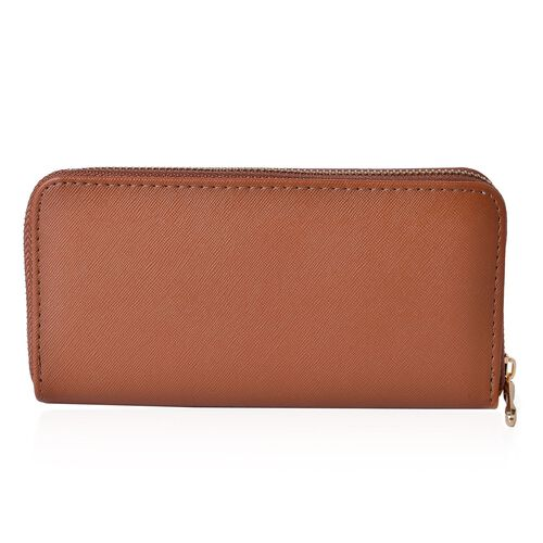 Arbra Italian Tan Colour Wallet (Size 19.5x9.5x3 Cm)