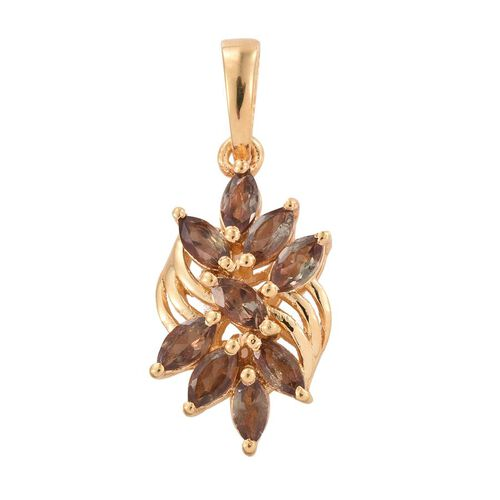 Brazilian Andalusite (Mrq) Pendant in 14K Gold Overlay Sterling Silver 1.250 Ct.