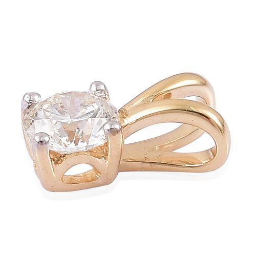 ILIANA 18K Yellow Gold IGI Certified Diamond (Rnd) (SI/G-H) Solitaire Pendant 0.250 Ct.