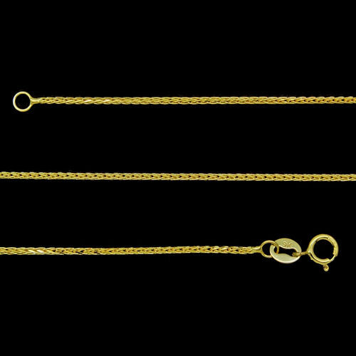 Designer Inspired Italian 9K Y Gold Chain (Size 18), Gold weight 2.00 Gms.