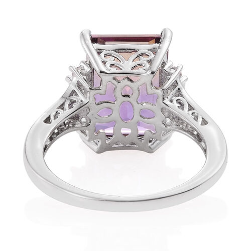 Anahi Ametrine (Bgt 7.50), White Topaz Ring in Platinum Overlay Sterling Silver 8.000 Ct.