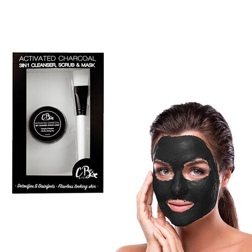 COUGAR- CB and CO Activated Charcoal 3 in 1 Cleanser- scrub and mask Estimated delivery within 5-7 working days