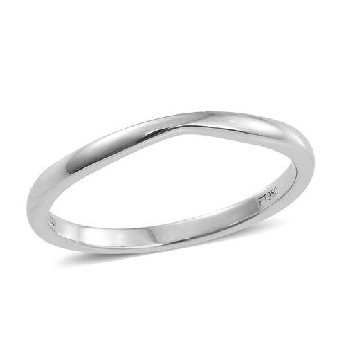 RHAPSODY 950 Platinum Shaped Wedding Band Ring, Platinum wt. 2.97 Gms.