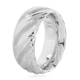Royal Bali Collection 9K White Gold Band Ring