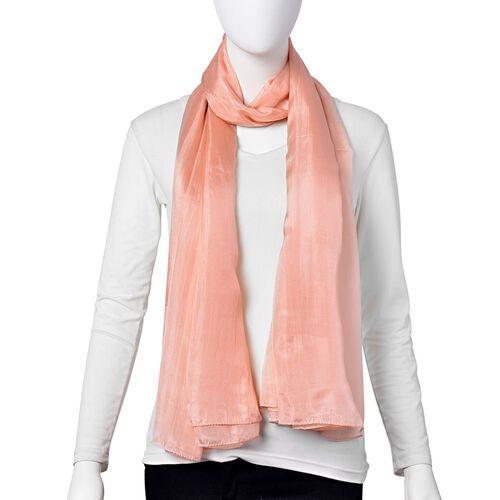 100% Mulberry Silk Pantone Colour Pale Dogwood Pink Scarf (Size 180X100 Cm)