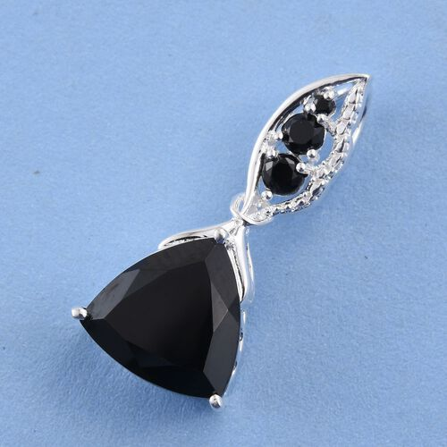 Boi Ploi Black Spinel (Trl) Pendant in Sterling Silver 5.750 Ct.