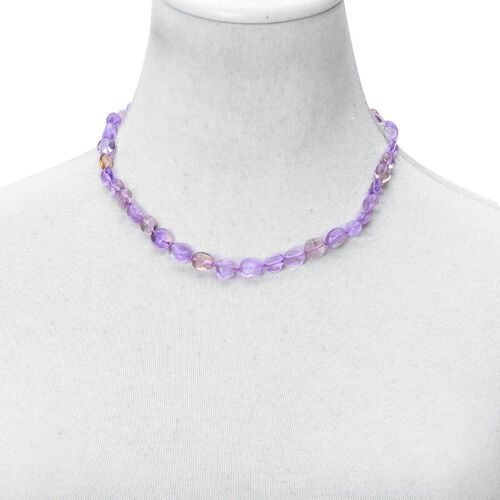 Bolivian Ametrine Necklace (Size 18 with 2 inch Extender) in Rhodium Plated Sterling Silver 144.000 Ct.