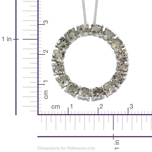 Natural Canary Apatite (Rnd) Circle of Life Pendant With Chain in Platinum Overlay Sterling Silver 4.750 Ct.