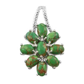 Close Out Deal-Mojave Green Turquoise (Ovl) Pendant in Sterling Silver 4.250 Ct.
