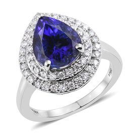 RHAPSODY 950 Platinum 5.65 Carat AAAA Tanzanite, Diamond (VS/E-F) Ring