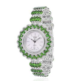 EON 1962 - Sterling Silver (28.0 Gms) Russian Diopside (25.0 CT) Swiss Movement Watch
