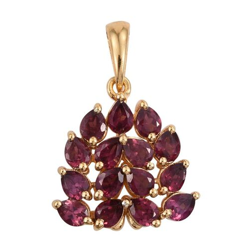 Indian Garnet (Pear) Pendant in 14K Gold Overlay Sterling Silver 3.000 Ct.