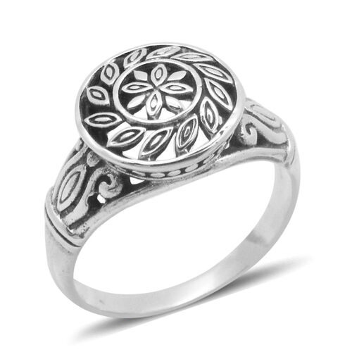 Royal Bali Collection Sterling Silver Floral Ring, Silver wt 4.70 Gms.