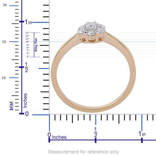 ILIANA 18K Yellow Gold IGI Certified Diamond (Rnd) (SI/G-H) 7 Stone Ring 0.500 Ct.