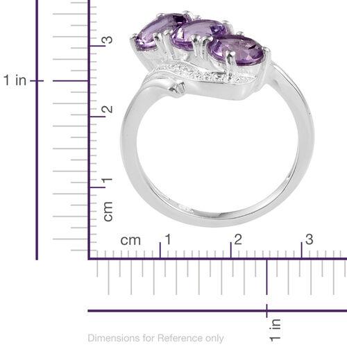 Rose De France Amethyst (Rnd) Trilogy Ring in Sterling Silver 2.000 Ct.