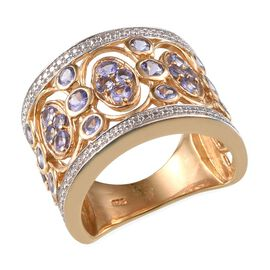 Tanzanite (Rnd) Ring in 14K Gold Overlay Sterling Silver 2.500 Ct.