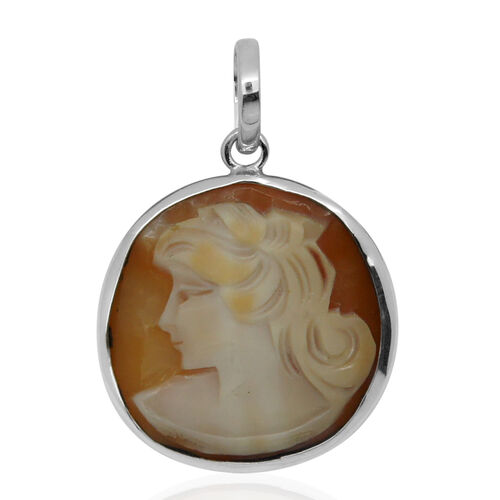 (Option 2) Royal Bali Collection Cameo (Rnd) Pendant in Sterling Silver 12.800 Ct.