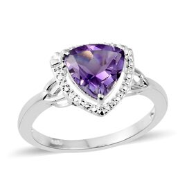 Amethyst (Trl) Soiltaire Ring in Sterling Silver 2.250 Ct.