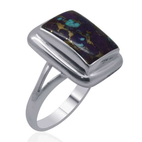 Royal Bali Collection Mohave Purple Turquoise (Oct) Solitaire Ring in Sterling Silver 6.770 Ct.