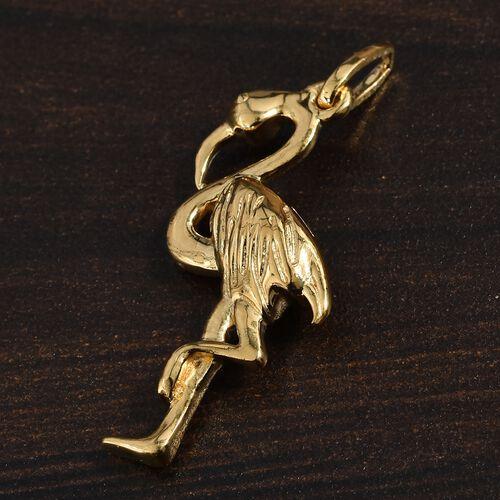 Silver Crane Bird Pendant in Gold Overlay, Silver wt 3.22 Gms.