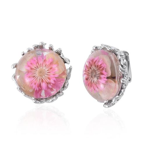 Natural Flower Preserved Stud Earrings in Stainless Steel