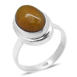 Royal Bali Collection Yellow Jade (Ovl) Solitaire Ring in Sterling Silver 6.820 Ct.