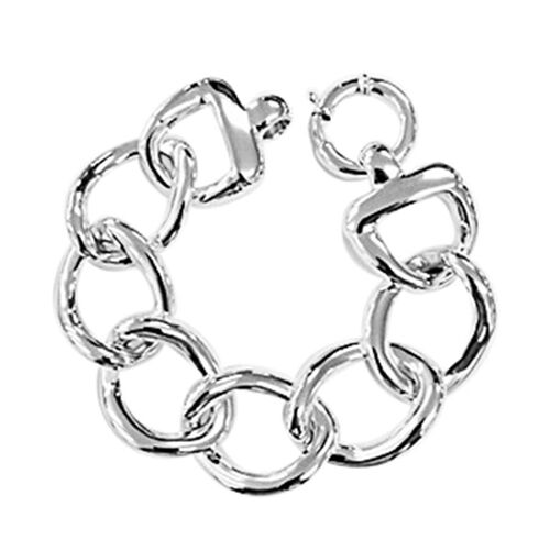 Thai Statement Collection Sterling Silver Curb Bracelet (Size 7.5), Silver wt 22.05 Gms.