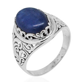 Royal Bali Collection Himalayan Kyanite (Ovl) Solitaire Ring in Sterling Silver 5.000 Ct. Silver wt. 4.00 Gms.
